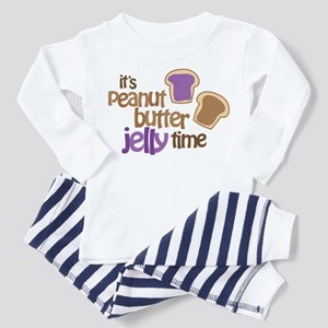 It's Peanut Butter Jelly Time Toddler Pajamas