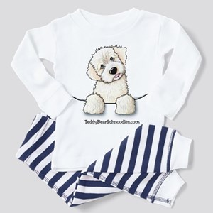 White Schnoodle Pocket Toddler Pajamas