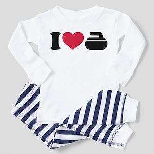I love Curling stone Toddler Pajamas