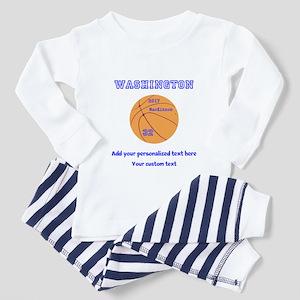 Basketball Personalized Toddler Pajamas