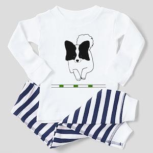 Black Papillon Toddler Pajamas