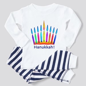 Neon Hanukkah Menorah Kids Toddler Pajamas
