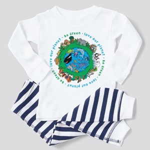 Be Green Love our planet Toddler Pajamas