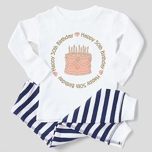 Happy 50th Birthday Cake Toddler Pajamas