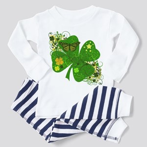Fancy Irish 4 leaf Clover Toddler Pajamas