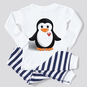 penguin with heart Toddler Pajamas