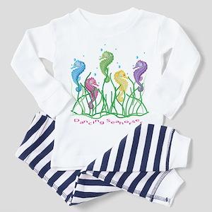 Whimsical Danicing Seahorses Toddler Pajamas