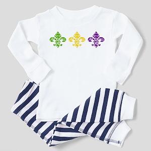 Mardi Fleur Swirl Toddler Pajamas