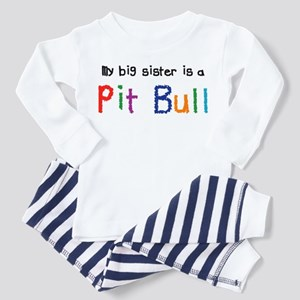 Big Sis is a Pit Bull Toddler Pajamas
