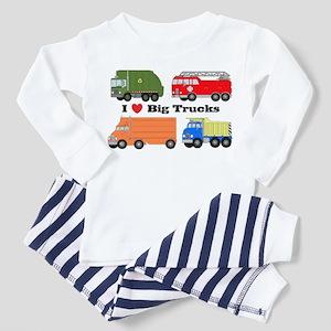 I Heart Big Trucks Toddler Pajamas