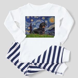 Starry Night Dachshund Toddler Pajamas