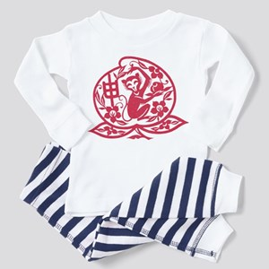 Chinese Papercut Zodiac Monkey Toddler Pajamas