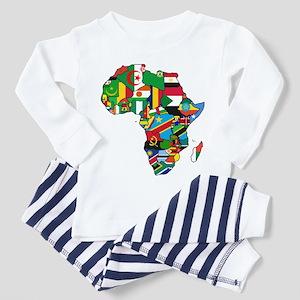 Flags of Africa Toddler Pajamas