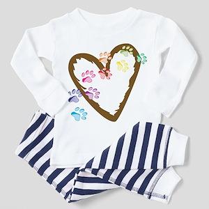 Paw Heart Toddler Pajamas