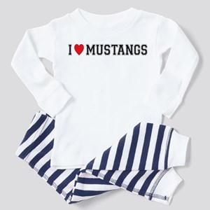 I Love Mustangs Toddler Pajamas