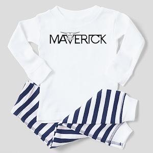 Maverick Head Emblem Toddler Pajamas