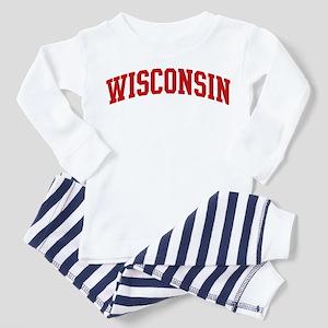 WISCONSIN (red) Toddler Pajamas