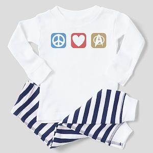 Peace Love Star Trek Toddler Pajamas