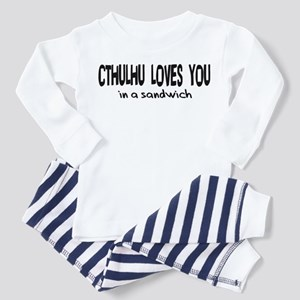 Cthulhu Loves You Toddler Pajamas