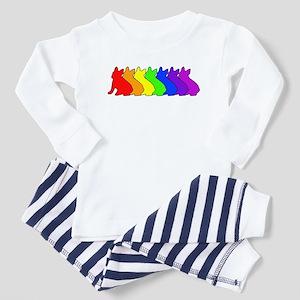 Rainbow Frenchie Toddler Pajamas