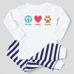 Peace Love Dogs Toddler Pajamas