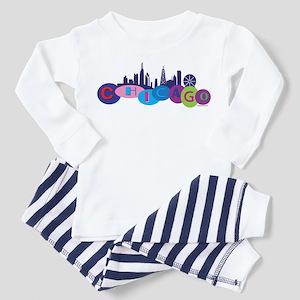 Chicago Circles And Skyline Toddler Pajamas