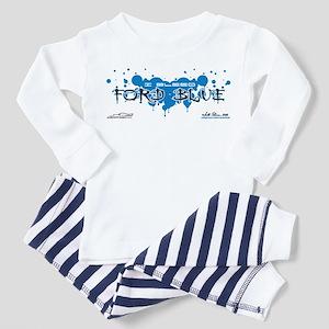 """I Bleed Ford Blue"" Toddler Pajamas"