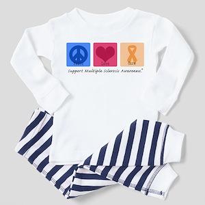 Peace Love Cure MS Toddler Pajamas