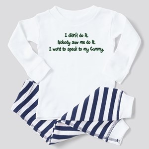 Want to Speak to Gammy Toddler Pajamas