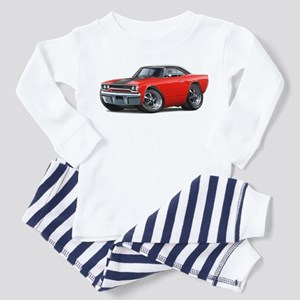 1970 Roadrunner Red-Black Car Toddler Pajamas