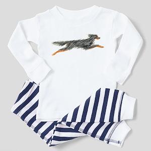 Leaping Gordon Setter Toddler Pajamas