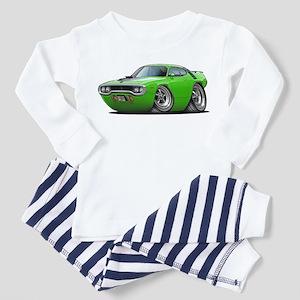 1971-72 Roadrunner Lime Car Toddler Pajamas