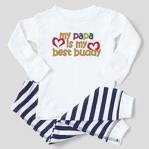 Papa is My Best Buddy Toddler Pajamas