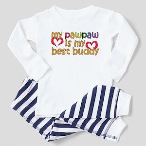 PawPaw is My Best Buddy Toddler Pajamas