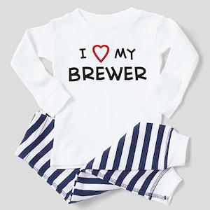 I Love Brewer Toddler Pajamas