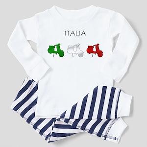 Italian Scooter Toddler Pajamas