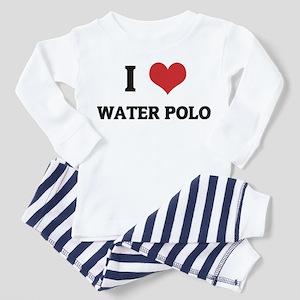 I Love water Polo Toddler Pajamas