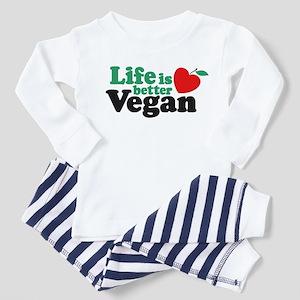 Life is Better Vegan Toddler Pajamas