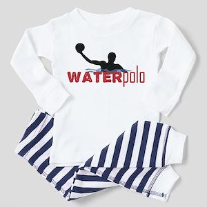 waterpolo silhouette Toddler Pajamas