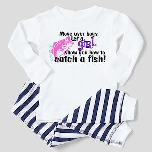 Move Over Boys - Fish Toddler Pajamas
