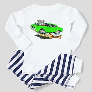 1970 Roadrunner Green Car Toddler Pajamas