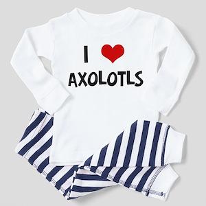 I Love Axolotls Toddler Pajamas