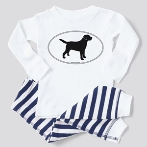 Black Lab Outline Toddler Pajamas