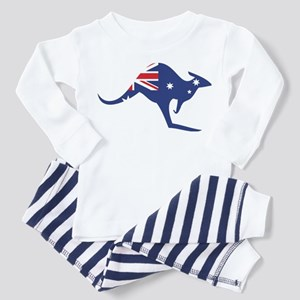 australian flag kangaroo Toddler Pajamas