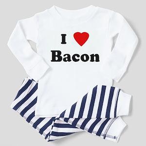 I Love Bacon Toddler Pajamas