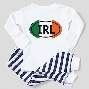 """IRL"" Ireland Euro Flag 2 Toddler Pajamas"