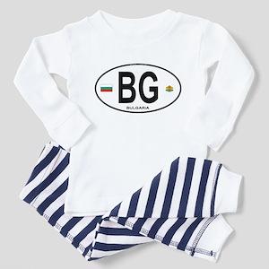 Bulgaria Euro Oval Toddler Pajamas