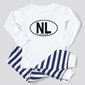 Netherlands Euro Oval (plain) Toddler Pajamas