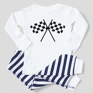 checker flag autorace Toddler Pajamas