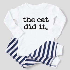 The Cat Did It Toddler Pajamas